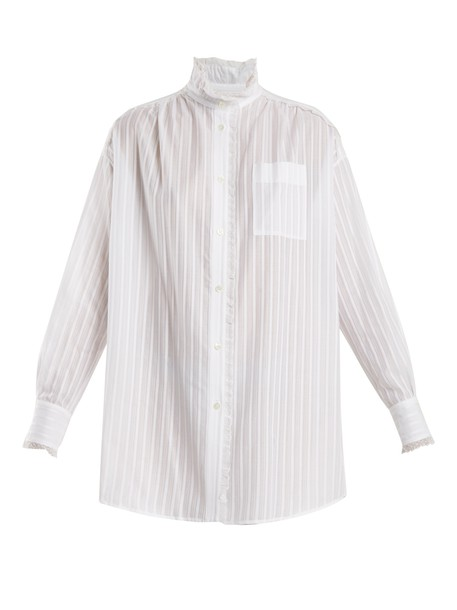 Sonia Rykiel shirt lace cotton white top