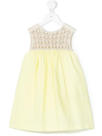 dress crochet dress cotton yellow crochet orange