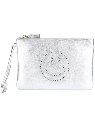 smiley clutch metallic bag