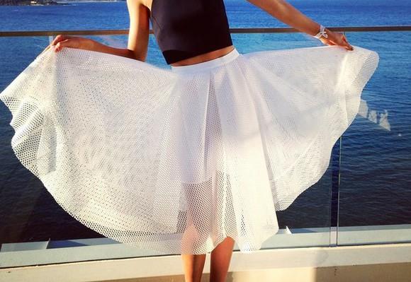 white skirt midi skirt white midi skirt flare flare skirt amazing phenomenal box skirt flared midi skirt see through midi skirt white see through white flared skirt