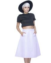 skirt,midi skirt,lilac,lilac skirt,aline skirt