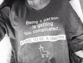 sweater unicorn black sweater