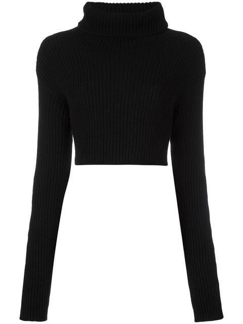 Valentino Cropped Roll Neck Jumper - Farfetch