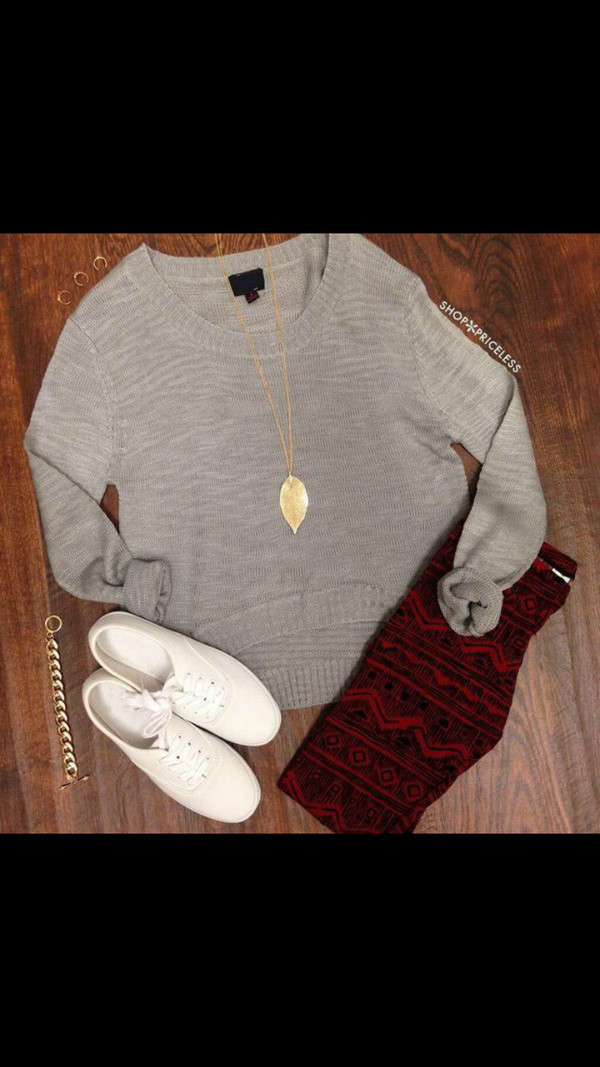 leggings fall outfits fall sweater necklace shoes grey oversized sweater