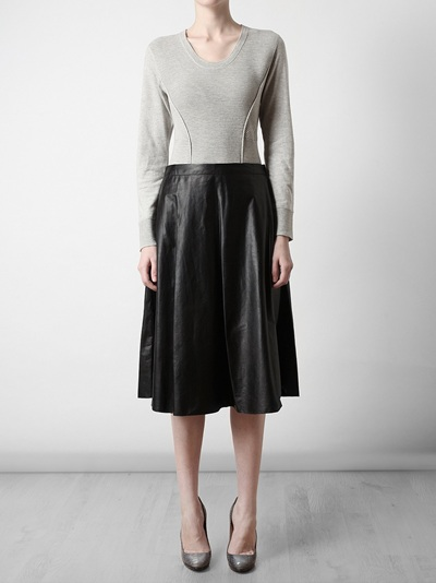 Phillip Lim Leather A-Line Skirt - Browns - farfetch.com