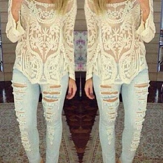late afternoon blouse white lace blouse