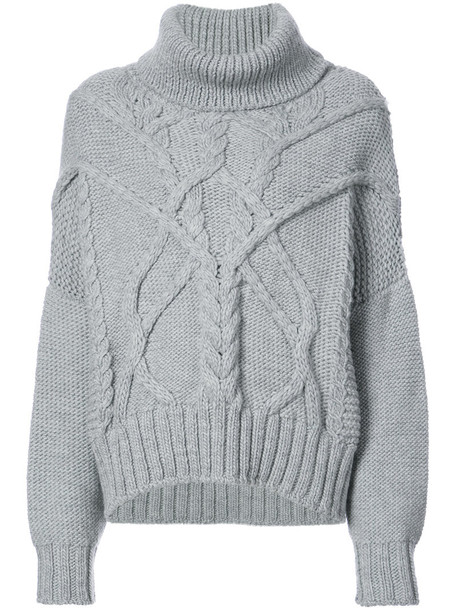 jumper women knit grey sweater