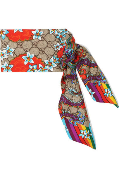 gucci scarf silk pink