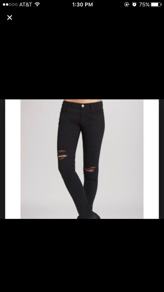 jeans black ripped skinny