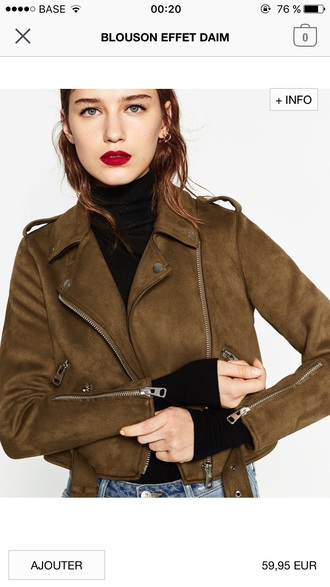 jacket zara perfecto brown jacket