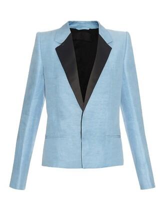 jacket silk light blue light blue
