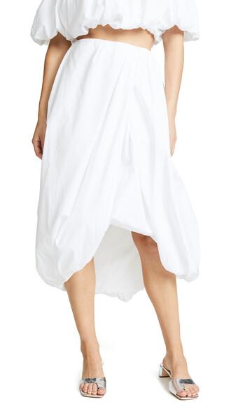 skirt draped white