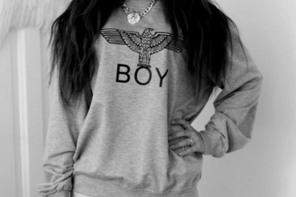 t-shirt grey t-shirt sweater grey boy london hoodie boy boy london london grey sweater grey hoodie hoodie