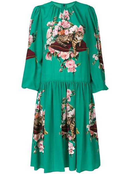 Dolce & Gabbana dress women silk green