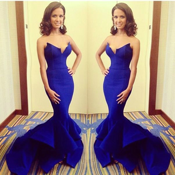 Aliexpress.com : buy stylish royal blue sweetheart satin evening dress long train mermaid formal evening gowns 2014 new arrival from reliable evening dresses suppliers on 27 dress