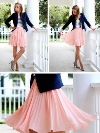skirt pink skirt pleated skirt style bottoms midi skirt cute skirts fashion