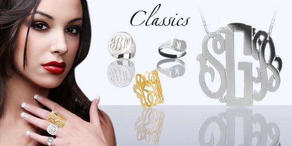 Jane Basch Designs Monogram Jewelry