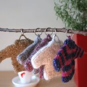 home accessory,hatsandotherstories,fur keychain,fuzzy keychain,fuzzy key chain,mini sweater,dream catcher key ring,christmas
