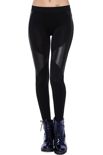 pants leggings leather pleather faux leather black tights workout leggings