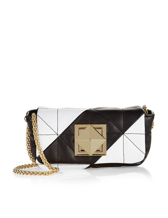 mini quilted bag mini bag leather white black