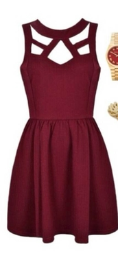 burgundy,short,semi formal,dress,fall outfits,maroon/burgundy,love,burgundy dress