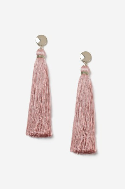 Topshop tassel earrings pink jewels