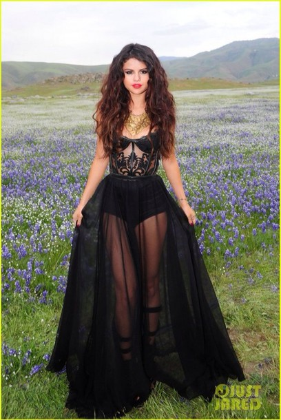 dress selena gomez see through dress black dress gown