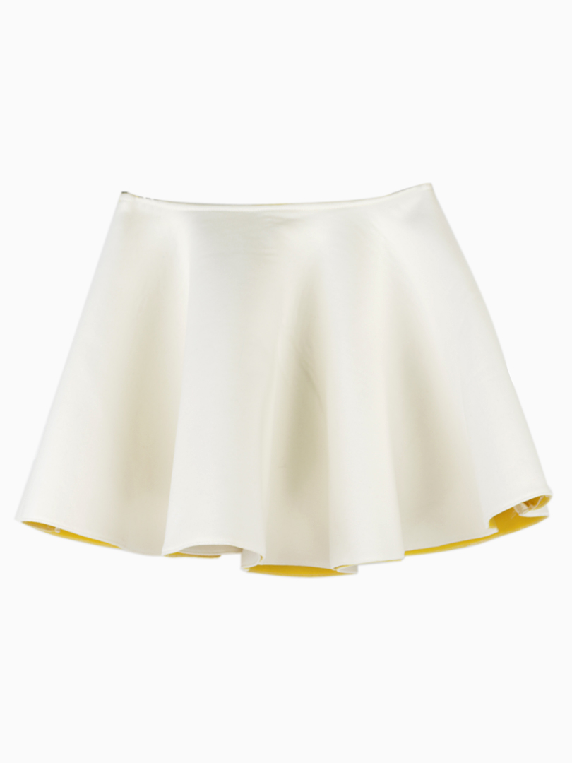 Mini Skater Skirt With Structured Pleats - Choies.com