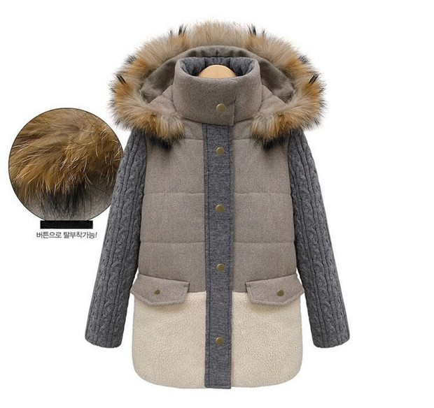 2013 Fashion Womens Down Collar Parka Winter Jacket Thick Coat Hooded | eBay