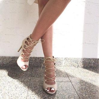 shoes nude high heels strappy heels high heels