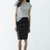 Black PU Pencil Skirt