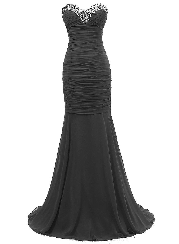 Bonnie clothing Women's Black Sexy Mermaid Evening Party Dress   Amazon.com