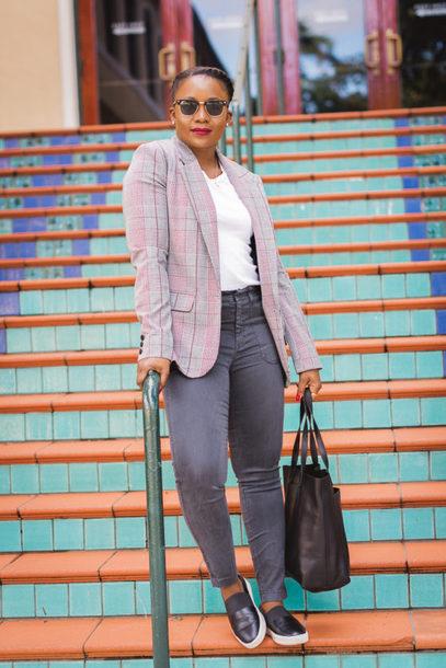 pinksole blogger sunglasses jewels jacket t-shirt pants shoes bag