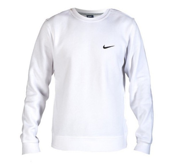 Sweater: nike, nike sweater, white, black tick, top, jacket ...