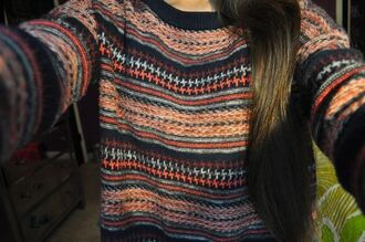 sweater crewneck brown sweater