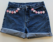 Vintage High Waisted Shorts and Custom Apparel  by RetroFriday