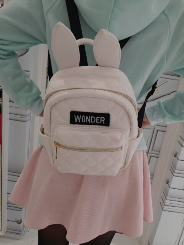 bag bunny ears wonder kawaii kawaii bag easter bag beautiful bags school bag fashion bags backpack backpack leather backpack fashion backpack pink pink bag bunny bunny bunny pale ears cute
