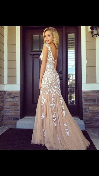 dress lace prom white red nude