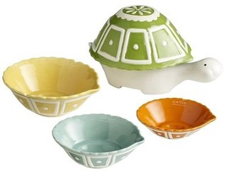 Ceramic turtle measuring cups