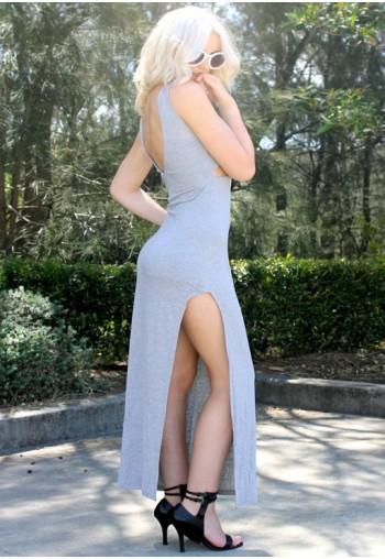 Ring the Alarm Maxi Dress Grey