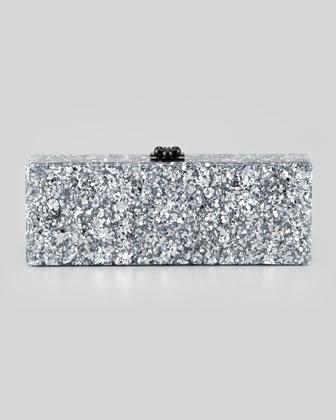 Edie Parker Flavia Confetti Acrylic Clutch Bag, Silver - Neiman Marcus
