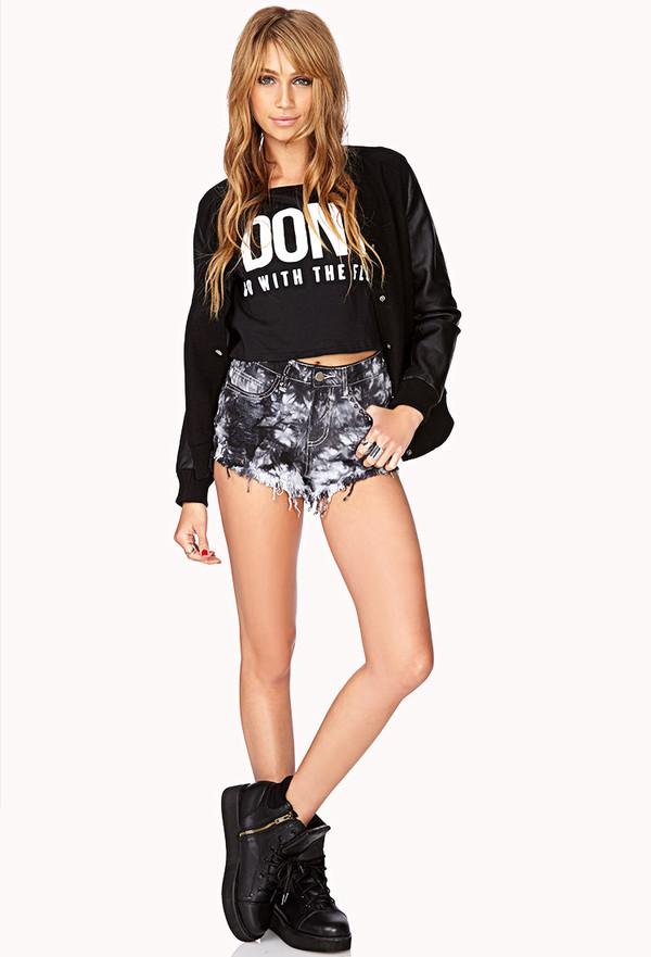 shorts forever 21 swag shirt