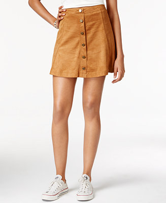 American Rag Faux-Suede A-Line Skirt, Only at Macy's - Juniors Skirts - Macy's