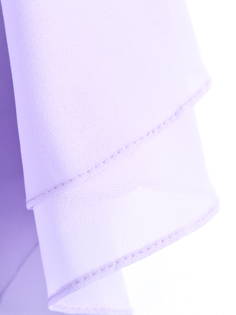 Purple Spaghetti Strap Ruffle Chiffon Vest - Sheinside.com