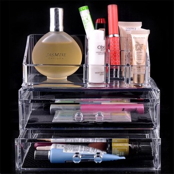 High Quality PS Plastic Cosmetic Organizer Drawer Makeup Case Storage Insert Holder Transparent Box NVIE-in Storage Boxes & Bins from Home & Garden on Aliexpress.com | Alibaba Group
