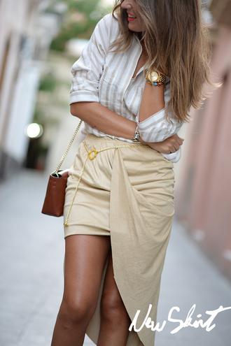 mi aventura con la moda blogger skirt t-shirt jewels shirt bag