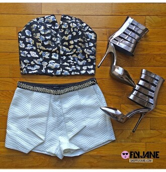 shirt white shorts beaded shorts pleated shorts summer shorts shoes top