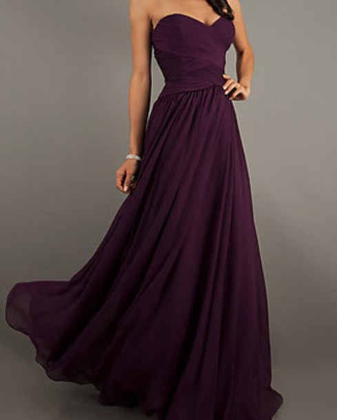 dress purple dress prom dress long prom dress fashion fancy dress