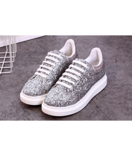 shoes sneakers glitter silver cool white sparkle trendy teenagers grey it  girl shop 18e26d108