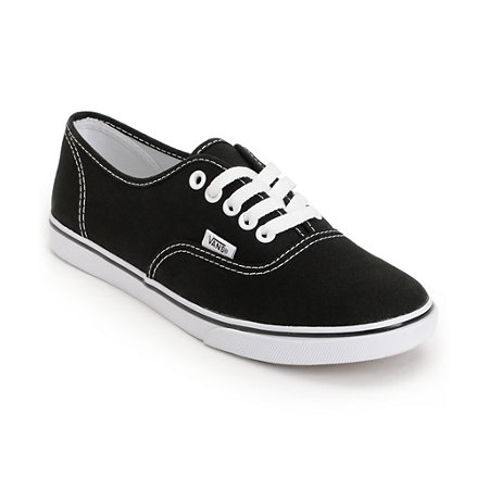 Vans authentic lo pro black shoe at zumiez : pdp
